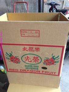 thanh long, thùng carton, màng PE,công ty bao bì Toàn Quốc, thùng carton 7 lớp,