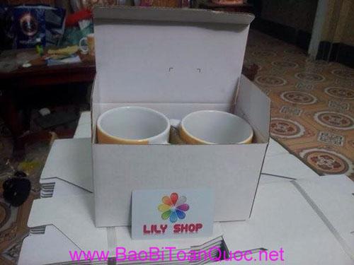 Hộp giấy đựng ly sứ, hộp giấy đựng quà tặng, Công ty bào bì Toàn Quốc, sản phẩm quà tặng, hộp giấy đựng ly sứ quà tặng