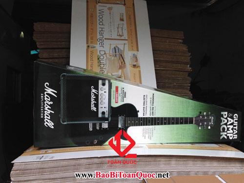 Hộp carton 5 lớp bồi, đàn guitar, 4 lớp carton, hộp giấy carton 5 lớp, hộp carton, thùng carton, công ty bao bì Toàn Quốc