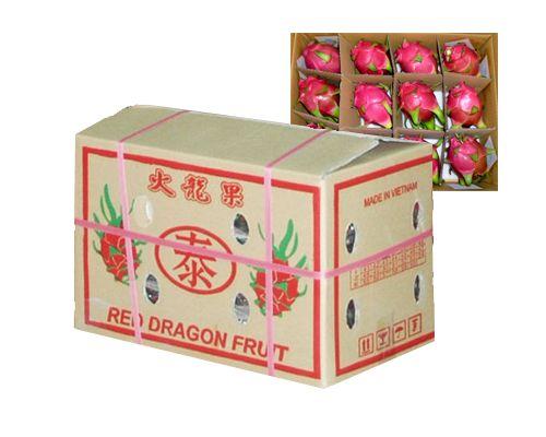 thùng carton đựng thanh long, thung carton dung thanh long